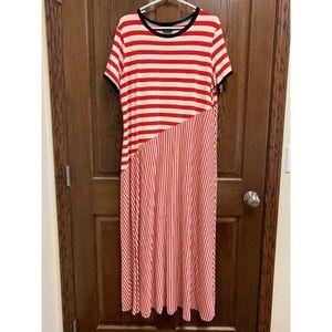 Who What Wear Striped Maxi Dress